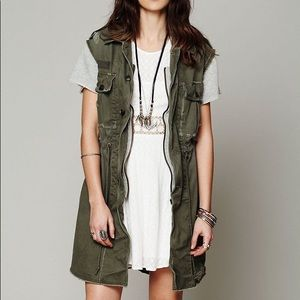 Free People Army Cargo Vest